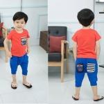 ชุดเซ็ทเด็กชายเสื้อ+กางเกง มาใหม่สไตล์เกาหลี