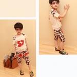 ชุดเซ็ทเด็กชายเสื้อ+กางเกง เท่ห์ๆ มาใหม่สไตล์เกาหลี