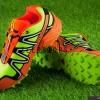 รองเท้า salomon speedcross 3 CS เขียวสะท้อนแสง-ส้ม