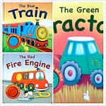 The Blue Train/Red Fire Engine/Green Tractor