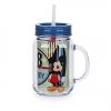 แก้วน้ำ มิกกี้เมาส์ พร้อมหลอดดูด Mickey Mouse Jelly Jar with Straw - Small