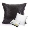 หมอนอิง Sequin Pillow Cushion Cover Pillow Case ขนาด 18 x 18 inch 45 cm.(สีดำ) นิยม