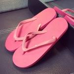 รองเท้าแตะผู้ชายและหญิง สไตล์เกาหลี (สีชมพู)