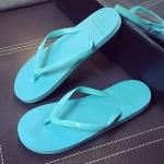 รองเท้าแตะผู้ชายและหญิง สไตล์เกาหลี (สีฟ้า)