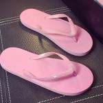 รองเท้าแตะผู้ชายและหญิง สไตล์เกาหลี (สีชมพูอ่อน)