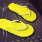 รองเท้าแตะผู้ชายและหญิง สไตล์เกาหลี (สีเหลือง)