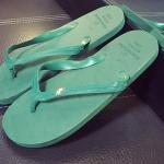 รองเท้าแตะผู้ชายและหญิง สไตล์เกาหลี (สีเขียวเข้ม)