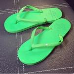 รองเท้าแตะผู้ชายและหญิง สไตล์เกาหลี (สีเขียว)