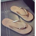 รองเท้าแตะผู้ชายและหญิง สไตล์เกาหลี (สีน้ำตาล)