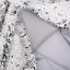 หมอนอิง Luxury reverse colors Mermaid sequin throw pillows ขนาด 18 x18 นิ้ว( Platinum) - สีเงิน thumbnail 4