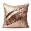หมอนอิง Luxury Reverse Colors Mermaid Sequin Throw Pillows ขนาด 18 x 18 นิ้ว (สีทองชมพู/น้ำตาลทอง) thumbnail 2