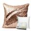 หมอนอิง Luxury Reverse Colors Mermaid Sequin Throw Pillows ขนาด 18 x 18 นิ้ว (สีทองชมพู/น้ำตาลทอง) thumbnail 1
